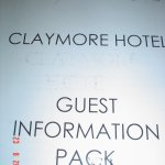 Photocopied Guest Infromation Pack faded and unreadable on some pages
