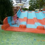 children slides and heated pool