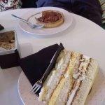 yummy lemon and passion fruit cake and maple pecan tart