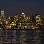 Night scape Seattle