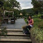 Beautiful relaxing garden surrounding hotel