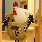 Love the ceramic chickens