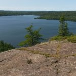 View of Clearwater Lake...a short canoe trip & hike from the lodge.