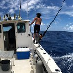 Cayman Marine Lab boat on a beautiful day!