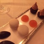 Petit fours with coffee