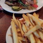 Salmon BLT with fries - Ok