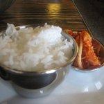 rice and kimchi