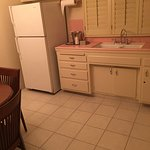 Kitchen - yes, that's PINK tile!