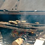 Oysters being cooked to order.
