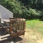 Tent cabin 5 with tent site next door