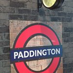 Paddington Stn sign in bar