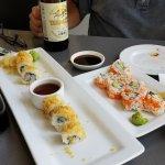 Sushi rolls...already some eaten!