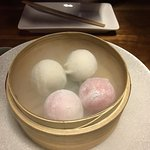 Mochi chilled over dry ice