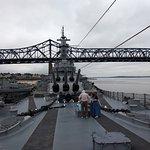 Randy and Ellen on the Battleship Massachusetts