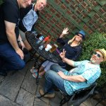 Successful day at the cafe, another year the hop-festival has brought laughter to the cafe, it w
