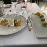 Beautifully presented dishes
