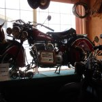 Vintage Motorcycles in the lobby