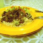 lamb with basmati rice