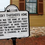 The house of Tom Sawyer's firs sweetheart