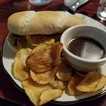French dip with homemade chips
