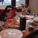 Pizza and wine from the tap