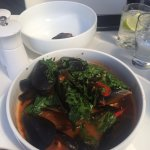 Wow mussels for entree the best I've had for a long time. Staff in restaurant and bar chatty and