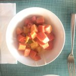 Fresh fruit grown on the island included bananas and papaya