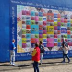 This is a photo of a mural done by the women to reflect peace.