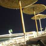 Night view of the beach.
