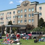 Solar Eclipse viewing on the front lawn of the Country Inn and Suites in Cookeville, TN