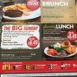 Extra Sunday menu