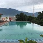The swimming pool and the mountain view