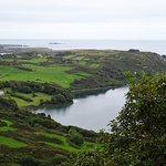 A view from halfway up the hill next to Lough Hyne