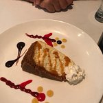 Wonderful light cheesecake to share at the end of our meal!