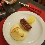 Travers de Porc Confits et pulpe de pomme de terre