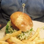vegetarian Burger with chips $17
