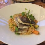 Sea Bass main, with Thai noodles