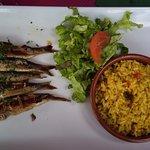 Sardines grillées accompagné de son riz