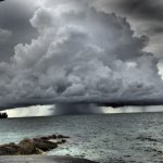 A storm heading to Andros