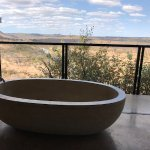 We would return from game drives to a drawn bath--lovely!
