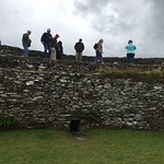 visitors walk on top of perimeter wall at Grianan of Aileach