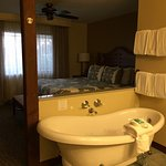 Master suite with attached bathroom with jetted tub