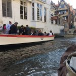 passing another boat on canal ride