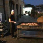 Greek night BBQ.
