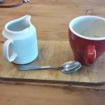 .....coffee & hot milk