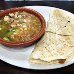 Lunch Pick 2: Chicken quesadillas, Homemade Tortilla Soup