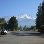 View of Mt. Shasta from street bordering the B&B