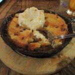 Pecan pie skillet dessert