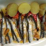 Las anchoas a la Bilbaína
