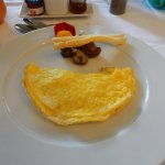 The omelette which was included in the breakfast buffet.